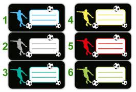 Heftaufkleber 3,0 x 6,5  cm | Fußballspieler