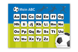 ABC Lernposter | Fußball blau-grün