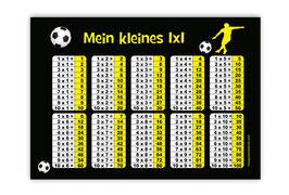 1x1 Lernposter | Fußballspieler gelb