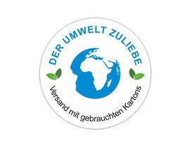 Verpackungsetiketten - rund | Der Umwelt zuliebe - Erde blau