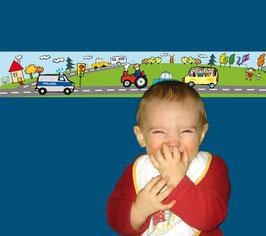 Kinderbordüre | Fahrzeuge - Polizei