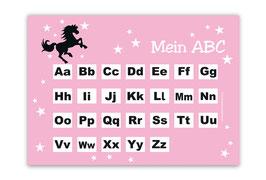 ABC Lernposter | Wildpferd - rosa