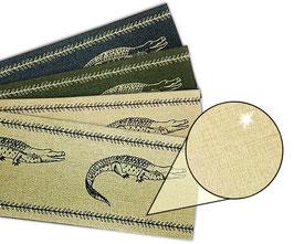 Gold - Metallic Bordüre | Krokodil