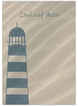 Posterdruck - Lust auf Meer - Leuchtturm