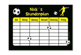 A4 Stundenplan | Fußballspieler gelb
