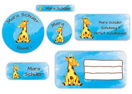 Schulaufkleber - Set | Giraffe