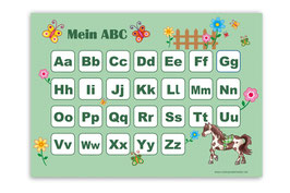 ABC Lernposter | Pferde - grün