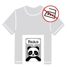 Kleidungsaufkleber   Pandabär - grau