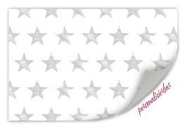 Geschenkpapier | Sterne grau