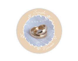 Hochzeitsaufkleber | Eheringe