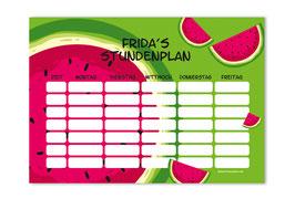 A4 Stundenplan | Melone