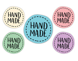DIY Aufkleber - rund  | Handmade - farbig