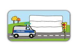 Heftaufkleber 3,0 x 6,5  cm | Polizei