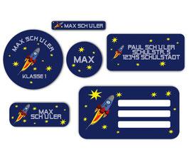 Schulaufkleber - Set | Rakete