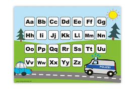 ABC Lernposter | Polizei