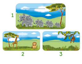 Heftaufkleber 4,4 x 8,4 cm  | Tiere Afrikas