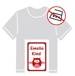 Kleidungsaufkleber | Eule - rot