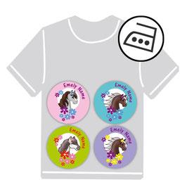 Mini Bügeletiketten   Pony