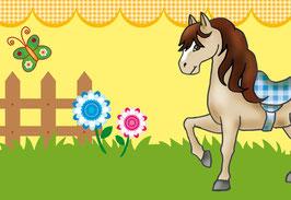selbstklebende Kinderbordüre | Pony