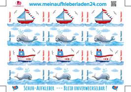 Schuhaufkleber | Schiffe - Wale