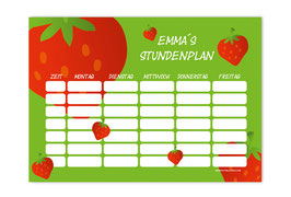 A4 Stundenplan | Erdbeere