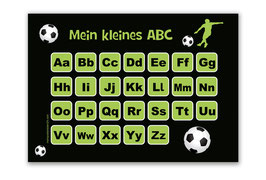ABC Lernposter | Fußballspieler grün