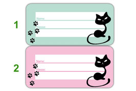 Heftaufkleber 3,0 x 6,5  cm | Katze