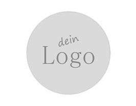 Handmade Aufkleber - rund  | personalisierbar mit deinem Logo