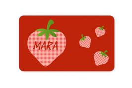 Brotdosenaufkleber | Erdbeere
