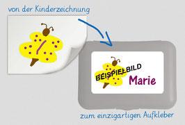 Brotdosenaufkleber  |mit eigener Kinderzeichnung