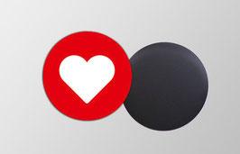 Magnetbild rund | Herz