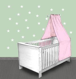 Wandaufkleber | Kleine Sterne - weiß