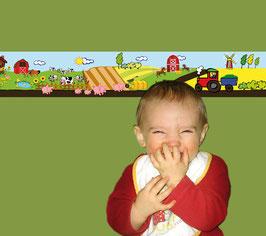 Kinderbordüre   Bauernhof
