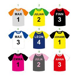 Form - Namensaufkleber | Fußball Trikot