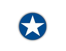 Aufkleber Mini Dots | Stern blau