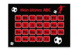 ABC Lernposter   Fußballspieler rot