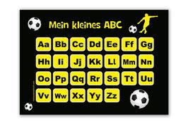 ABC Lernposter | Fußballspieler gelb