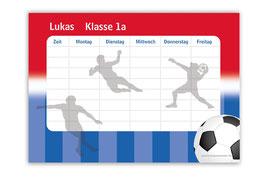 A4 Stundenplan | Fußball rot-blau