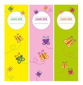 3er Set Ordnerrückenaufkleber | Schmetterlinge