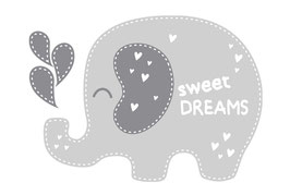 Wandaufkleber | Elefant - Sweet Dreams