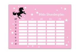 A4 Stundenplan | Wildpferd rosa