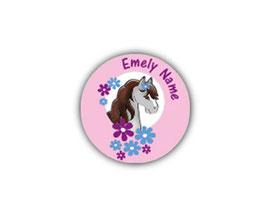 Aufkleber Mini Dots | Pony rosa