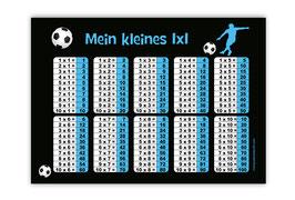 1x1 Lernposter | Fußballspieler blau