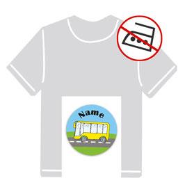 Kleidungsaufkleber rund | Bus - gelb