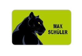 Brotdosenaufkleber | Schwarzer Panther