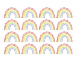 Wandaufkleber - Set | 16 Kleine Regenbögen