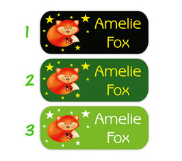 Namensaufkleber 2 x 5 cm | Fuchs