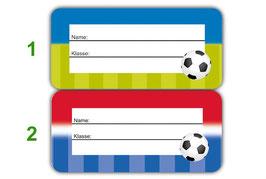 Heftaufkleber 3,0 x 6,5  cm | Fußball
