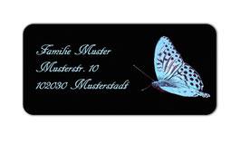 Adressaufkleber eckig  | Schmetterling