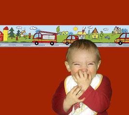 Kinderbordüre   Feuerwehr - Tag